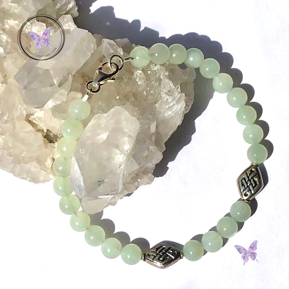 Green Jade Celtic Symbol Bracelet