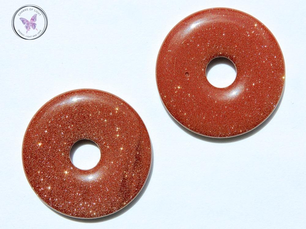 Gold Goldstone Pi Stones