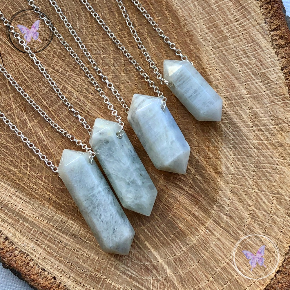 Moonstone Point Necklaces