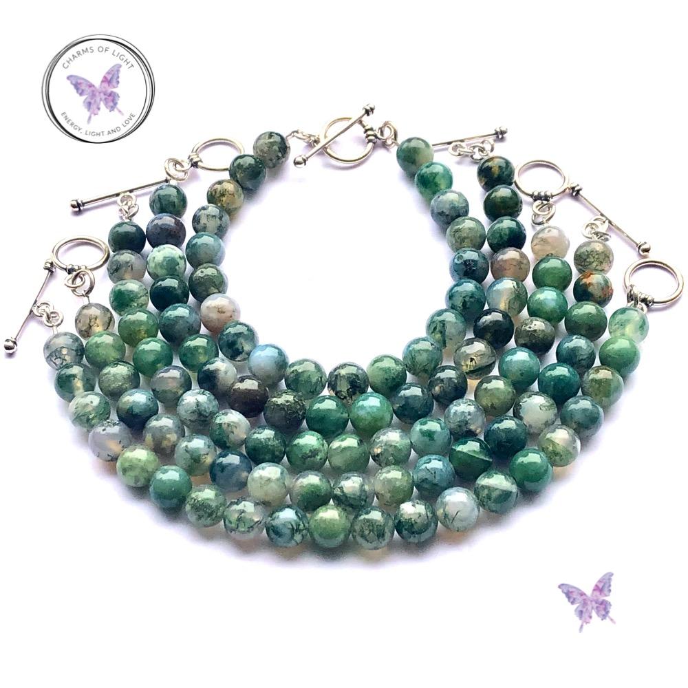 Moss Agate Bracelets